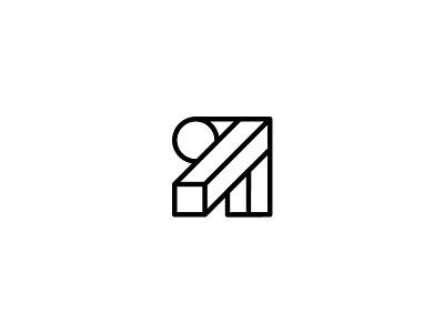 WIP logo stroke lines branding logo r logo architecture design arrow r letter