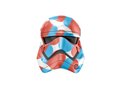 A little teaser for an upcoming project stormtrooper helmet starwars pattern branding city branding territorial city identity