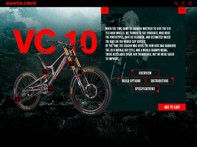 Single product landing ux product bike