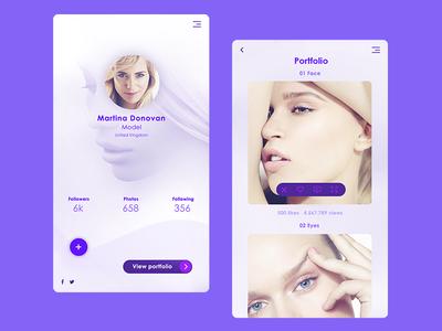 User Profile model sketch phone app profile ui ux