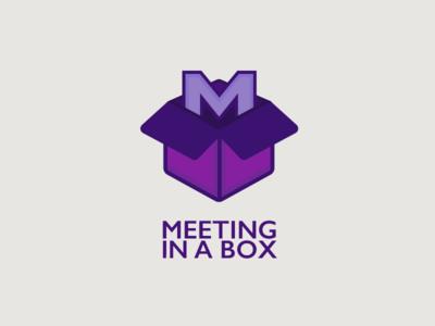 Logo Meeting in a box box vector design logo