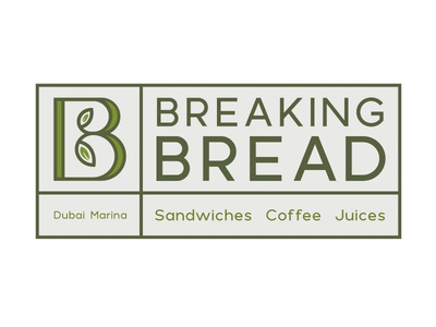 Logo Breaking Bread health restaurant cafe vector logo