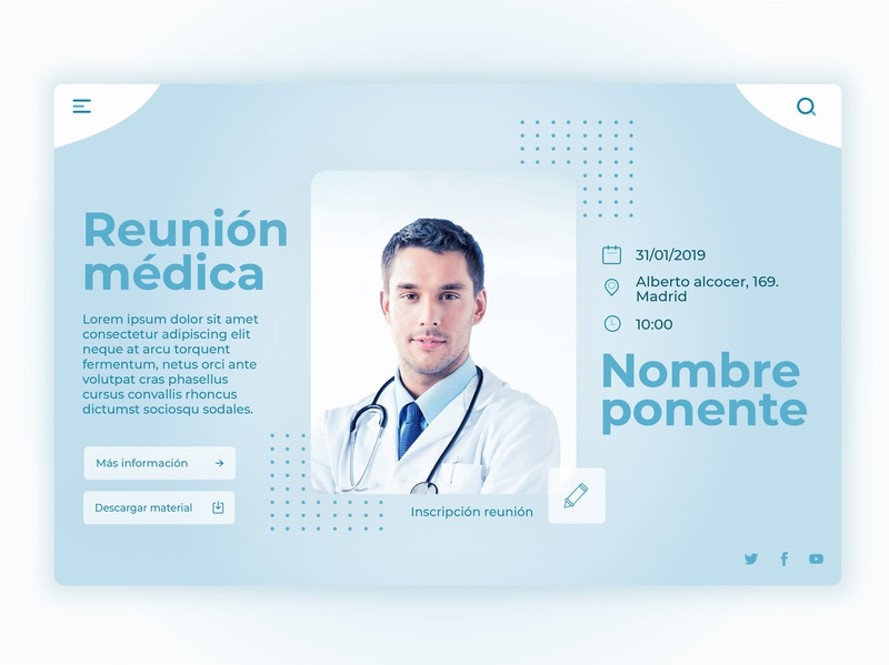 Template medical meeting laboratory medical meeting design ui template