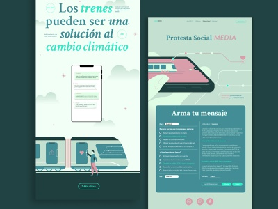Protesta Social MEDIA ui color type layout illustration typography