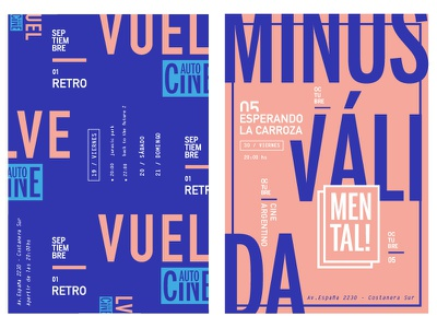 Film Festival branding blue pink color sans typography layout concept type