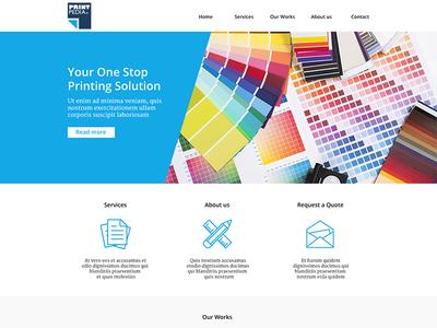 Website website printing company ui