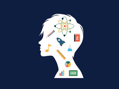 The Thinker thinking education illustration vector