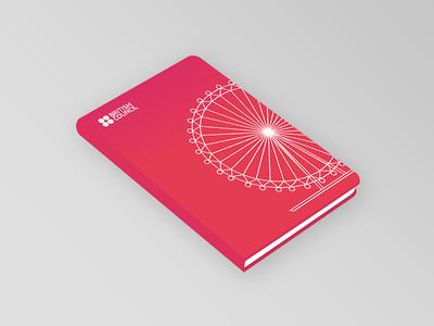 Notebook london eye cover design vector illustration cover notebook