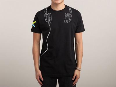 Tshirt headphone illustration tees tshirt