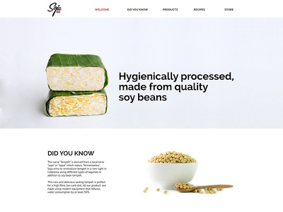 Website food design ui web website