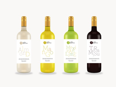 Bottle label sryrup typography packaging label bottle