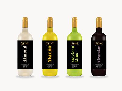 Bottle Label sryrup label bottle typography packaging