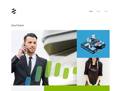 Redesign Portfolio Website zusuf.com uiux design website portfolio