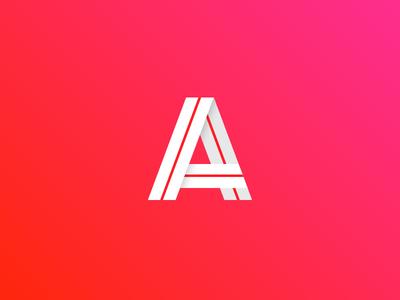 A letter typeface a logotype logo