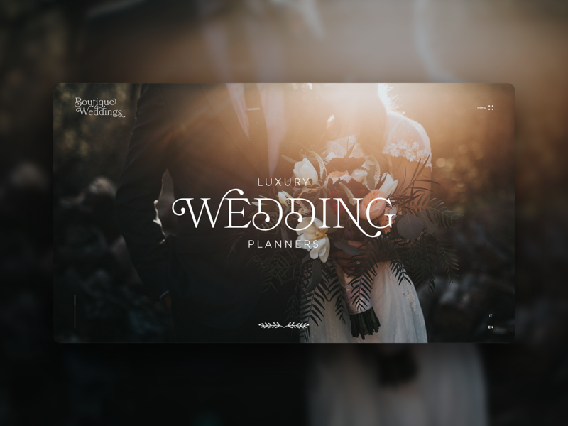 Boutique Wdding_site concept concept website wedding design typography web design ui ux