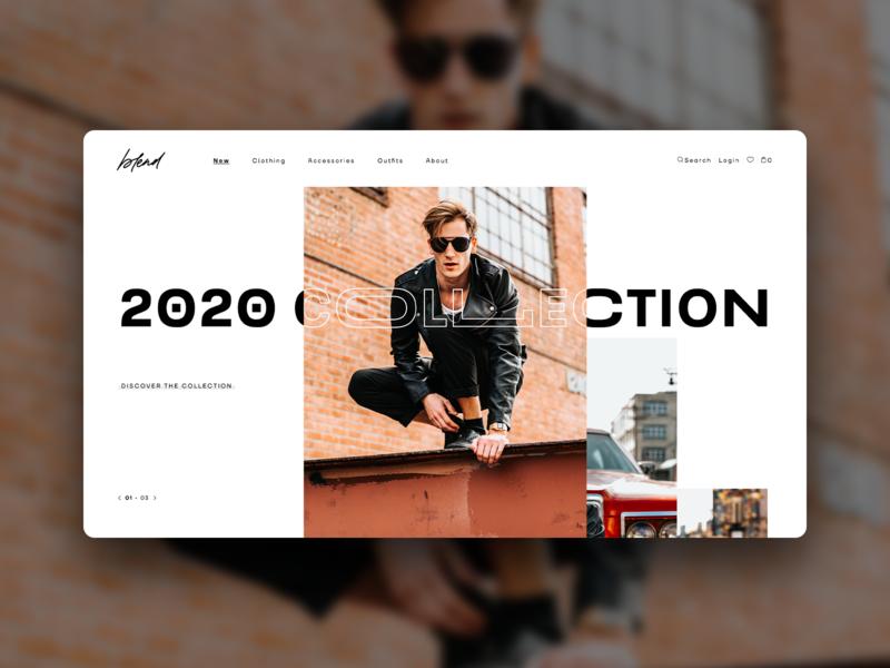 Blend_site concept concept design ecommerce fashion desktop website web design typography ui ux