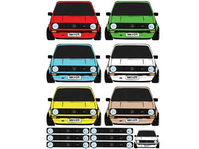 Volkswagen GTI Sticker Sheet