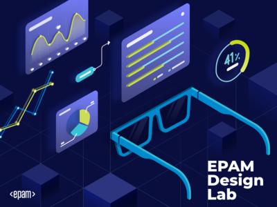 EPAM Design Lab Announce 🎉 ukraine lviv education design program interface dashboard illustration isometric