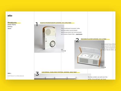 A History of Braun Design classic industrial design yellow design minimalism transaction clean ux ui animation dieter rams braun