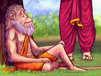 Why did Hanuman stop Bheem on his way?