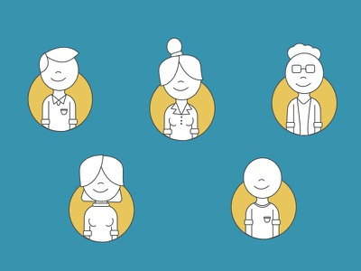 Business Model Characters illustration character design iconography