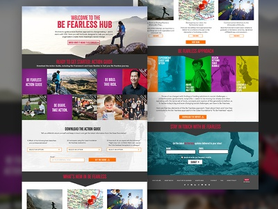 Be Fearless  fearless nonprofit campaign user experience user interface creative strategy photography art direction ui ux web design