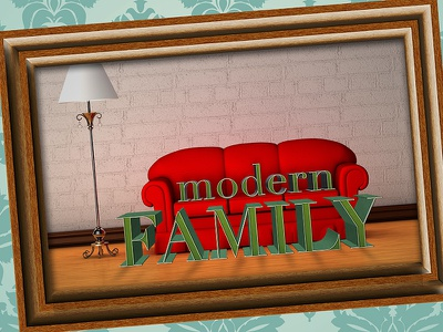 Modern Family Series Graphic church series 3d typography graphic