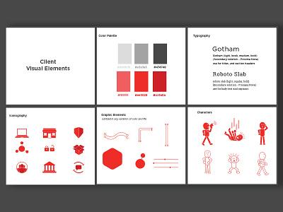 Client Moodboard iconography design branding moodboard visual identity