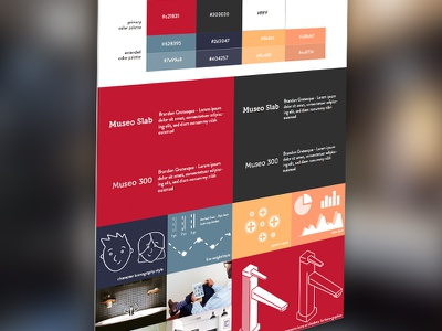 Hospitality HCD - Project Style Guide data mood board branding typography design thinking customer experience infographic cx human centered design hcd hospitality style guide