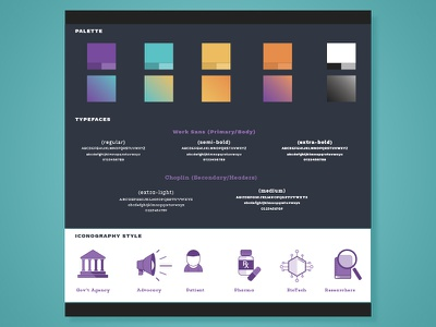 Medical Style Guide color palette iconography innovation visual id style guide design thinking research medical