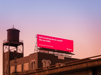 We can help san francisco billboard sunset email frontapp front