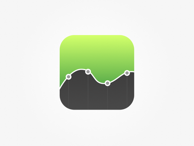 Stats Icon icon green chart