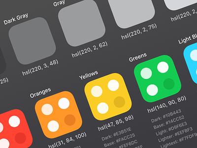 Color Palette ui color palette styleguide palette color colors email frontapp front