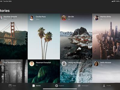 Concept: Instagram for iPad stories feed photos ios ipad instagram