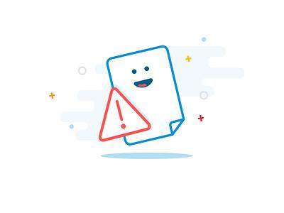 Warning message vector design illustration app ui