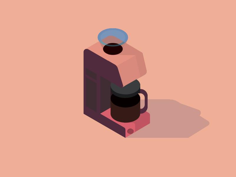 Coffee Break illustration design isometric isometry