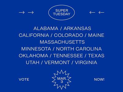 Super Tuesday type mint grotesk states usa democracy america voting super tuesday democrat vote blue