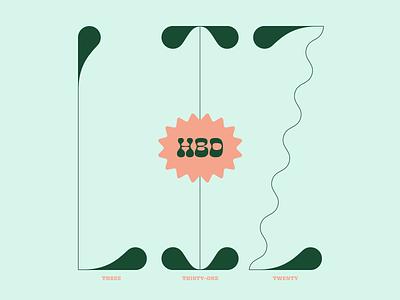 HBD LIZ z wavy type typography hbd weird green custom type
