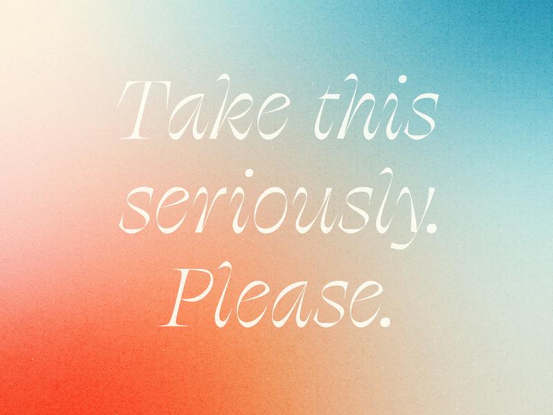 Please please type script blue red texture gradient