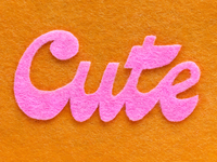 Might Delete Later get it fuzzy tactile lettering meme fun jokes waste of time felt orange pink typography might delete felt cute