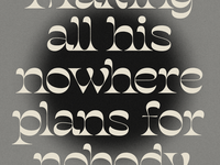 Nowhere Man grey texture typography salvaje type lennon beatles nowhere man