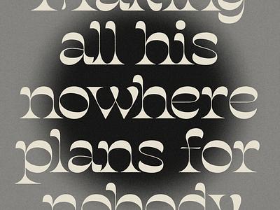 Nowhere Man grey texture typography salvaje type lennon beatles nowhere man