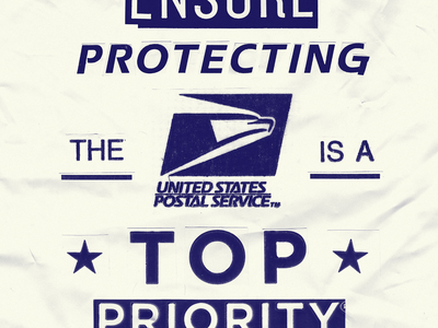 Top Priority cut priority texture collage america united states mail postal service savetheusps usps
