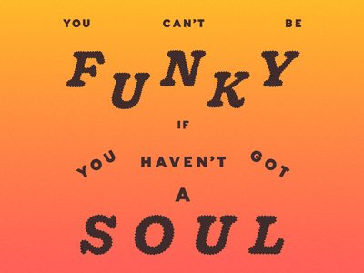 Can't Be Funky zero likes who cares type post-punk music lyric gradient funky orange
