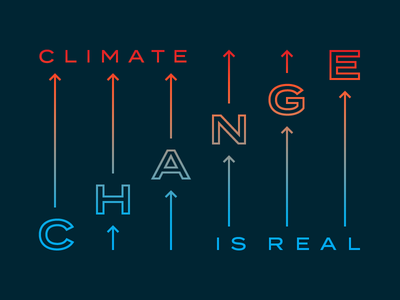 Climate Change climate strike epa environment global warming orange blue gradient earth science truth arrows climate climate change