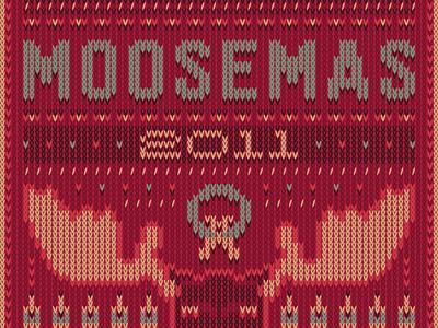 Moosemas 2011 Poster red poster moosylvania holiday christmas sweater illustration attachment christmas sweater stitch
