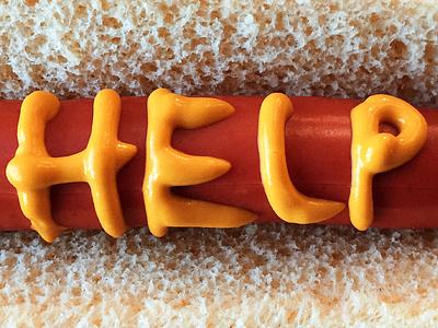 HELP photo bun edible type jacob etter archives type mustard hotdog help