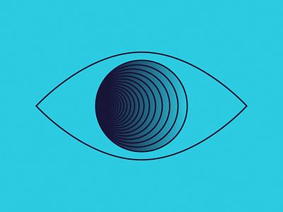 Tunnel Vision eye-con eye carumba lines eyeball vision tunnel gradient eye simple blue