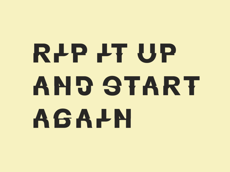Rip It Up typography type play orange juice cut experiment chopped type