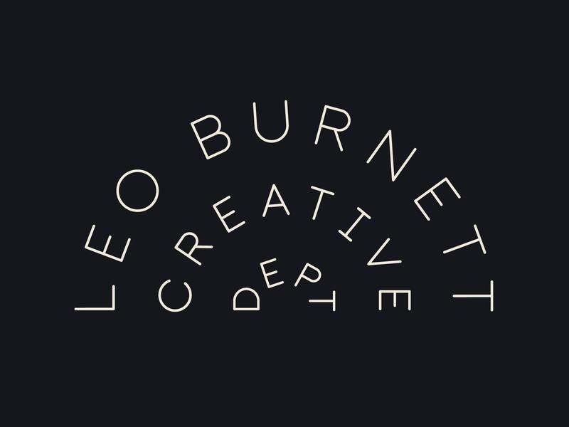 Creative Department Neon type lockup typography custom type creative leo burnett creative half circle type on a path neon sign outtakes leo burnett logo lockup logo